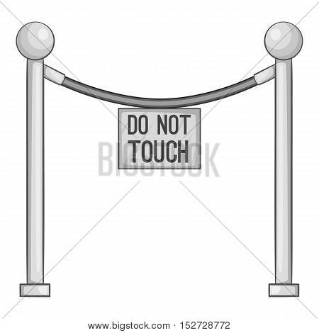 Protective pillar do not touch icon. Gray monochrome illustration of protective pillar do not touch vector icon for web