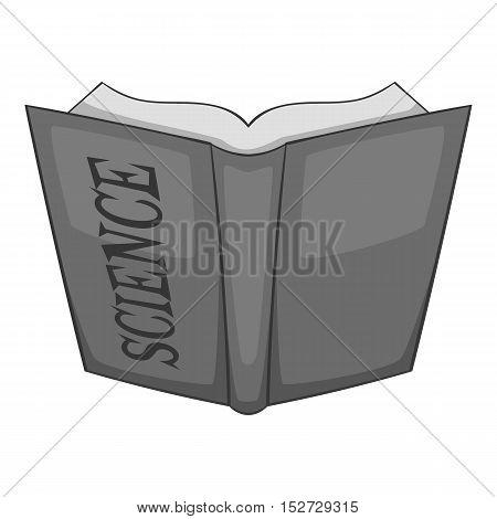 Open education book icon. Gray monochrome illustration of open education book vector icon for web