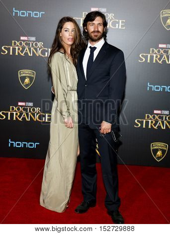 Eoin Macken and Charlotte Atkinson at the World premiere of 'Doctor Strange' held at the El Capitan Theatre in Hollywood, USA on October 20, 2016.