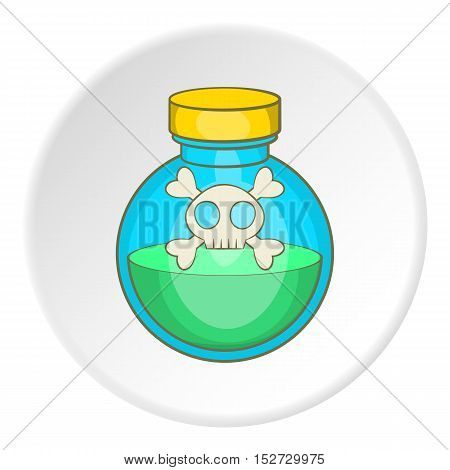 Bottle of poison icon. Cartoon illustration of bottle of poison vector icon for web