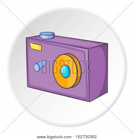 Action camera icon. Cartoon illustration of action camera vector icon for web