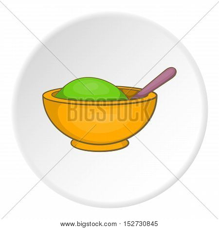 Clay in cup for Spa icon. Cartoon illustration of clay in cup for Spa vector icon for web