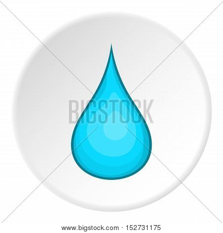 Drop of water icon. Cartoon illustration of drop of water vector icon for web