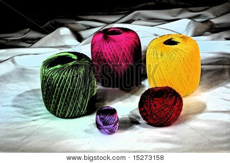 artistic colourful yarns