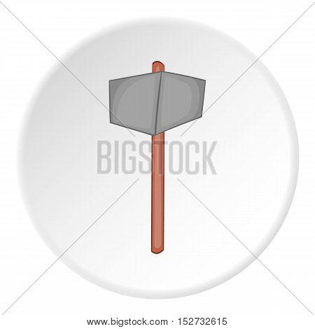 Sledgehammer icon. Cartoon illustration of sledgehammer vector icon for web