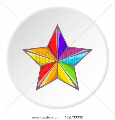 Star in colours of LGBT icon. Cartoon illustration of star in colours of LGBT vector icon for web