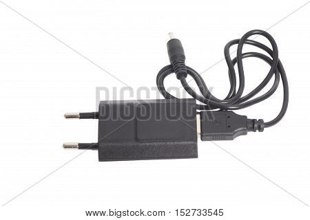 Charger power adapter isolated on a white