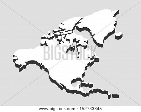 North and South America. Continents vector illustration.