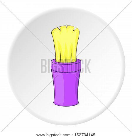 Shaving brush icon. Cartoon illustration of shaving brush vector icon for web