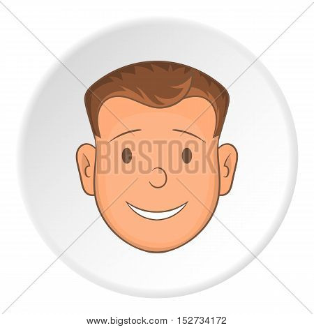 Male face icon. Cartoon illustration of male face vector icon for web