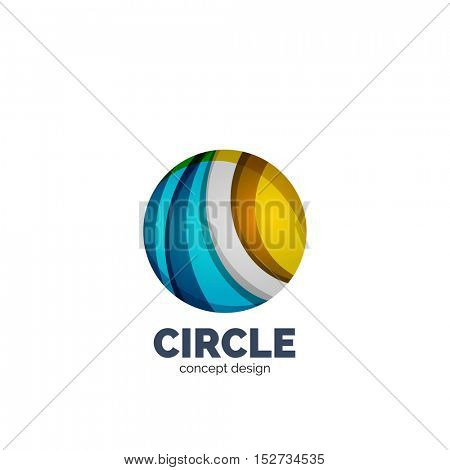 Vector abstract circle logo, business icon