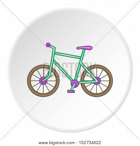 Bike icon. Cartoon illustration of bike vector icon for web