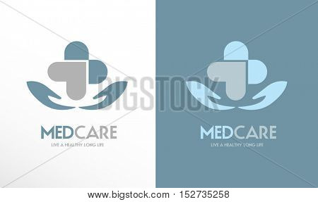 HANDS HOLDING A HEART AND CROSS SHAPE , LOGO / ICON