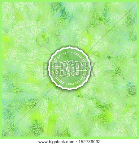 Abstract green background design. Vector Illustration. Shaggy fur texture