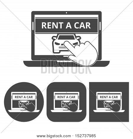 Rent a Car Transportation design - vector icons set