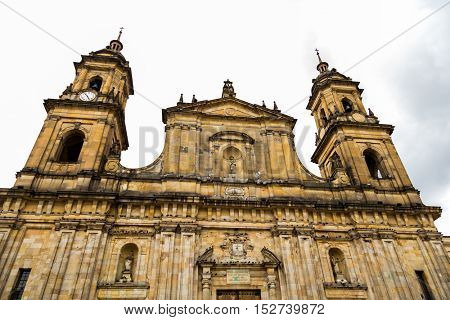 The famous Cathedral in Bogota, Colombia