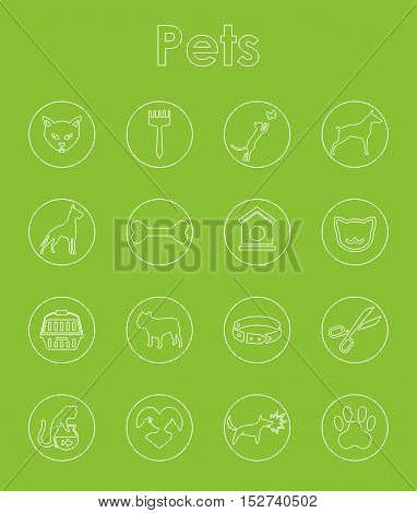 It is a set of pets simple web icons
