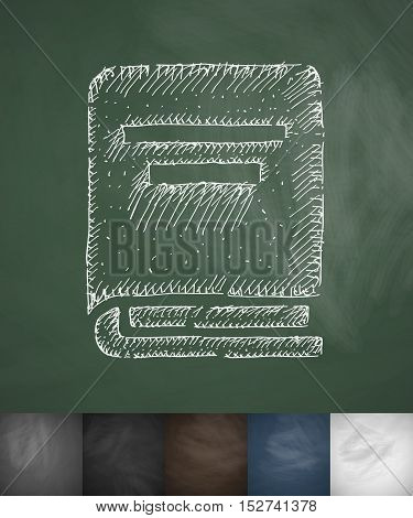 book icon. Hand drawn vector illustration. Chalkboard Design