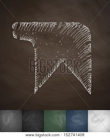 bookmark icon. Hand drawn vector illustration. Chalkboard Design