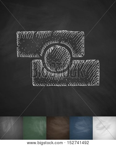 photo editor icon. Hand drawn vector illustration. Chalkboard Design