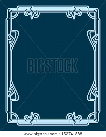 Vector Art Deco Card.