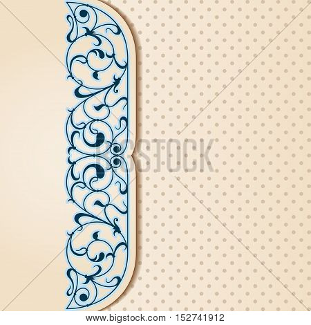 Vector Art Nouveau Card.