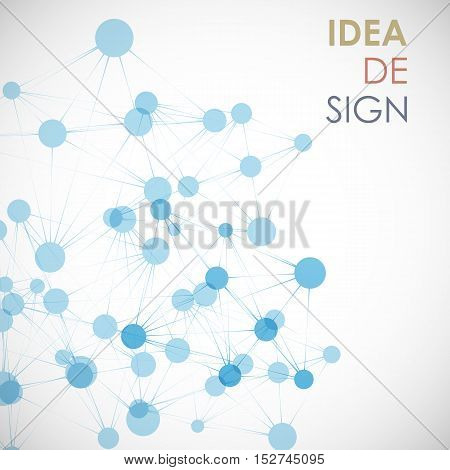 Network, connect or molecule set. Vector illustration for you idea.