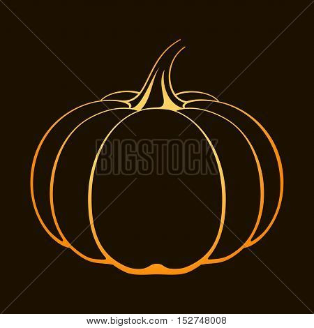 Vector Pumpkin Icon.