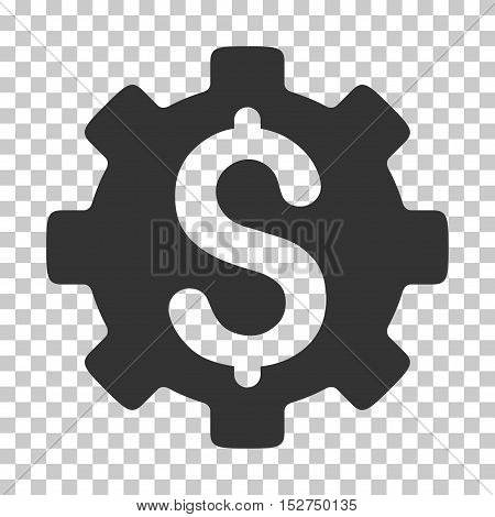Gray Development Cost interface icon. Vector pictogram style is a flat symbol on chess transparent background.
