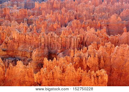 Sunset over Bryce canyon national park in Utah, USA