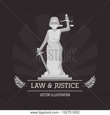 Statue icon. Law justice legal and judgment theme. Colorful design. Vector illustration