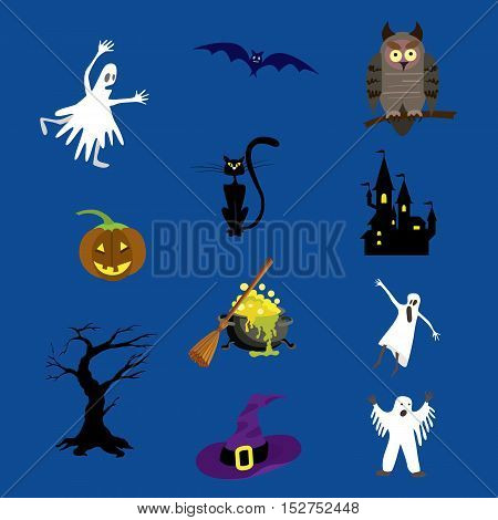 Halloween icons set vector illustration for your design.