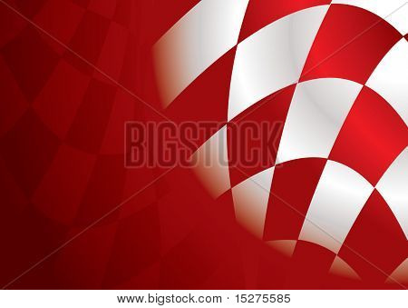 Red and white checkered flag background with room to add text