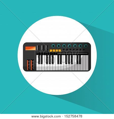 Piano instrument icon. Music sound musical and communication theme. Colorful design. Vector illustration
