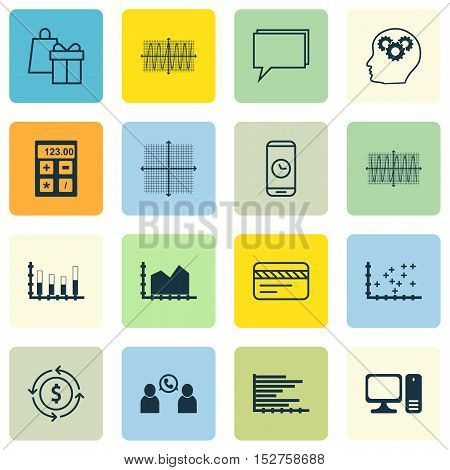 Set Of 16 Universal Editable Icons For Computer Hardware, Education And Human Resources Topics. Incl