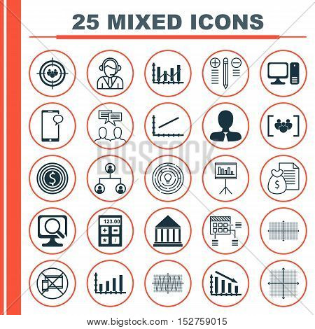 Set Of 25 Universal Editable Icons For Human Resources, Seo And Education Topics. Includes Icons Suc