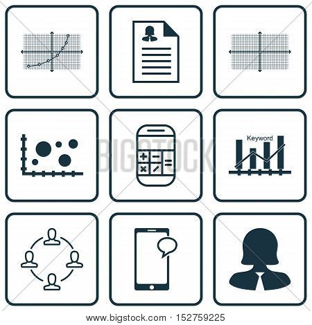 Set Of 9 Universal Editable Icons For Airport, Human Resources And Statistics Topics. Includes Icons