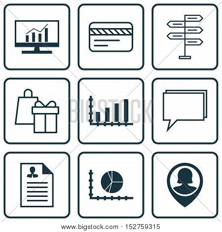 Set Of 9 Universal Editable Icons For Project Management, Marketing And Seo Topics. Includes Icons S