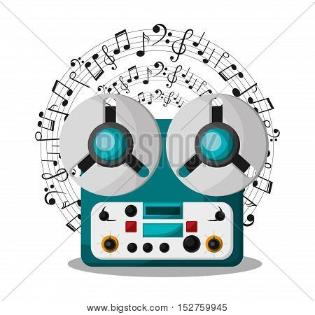 Recorder instrument icon. Music sound musical and communication theme. Colorful design. Vector illustration
