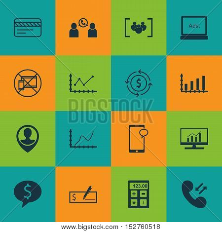 Set Of 16 Universal Editable Icons For Education, Human Resources And Seo Topics. Includes Icons Suc