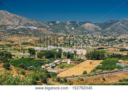 Mijas In Malaga, Andalusia, Spain. Summer Cityscape