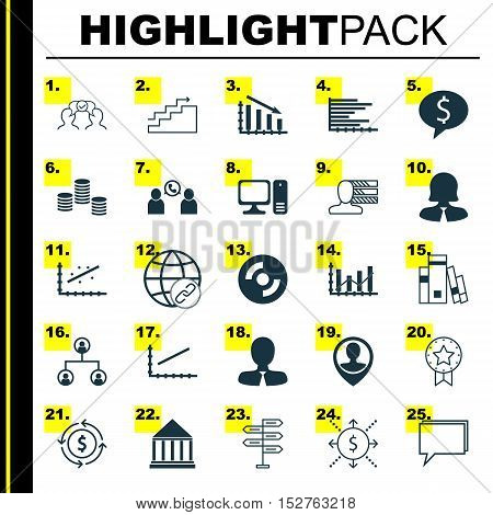Set Of 25 Universal Editable Icons For Education, Advertising And Computer Hardware Topics. Includes