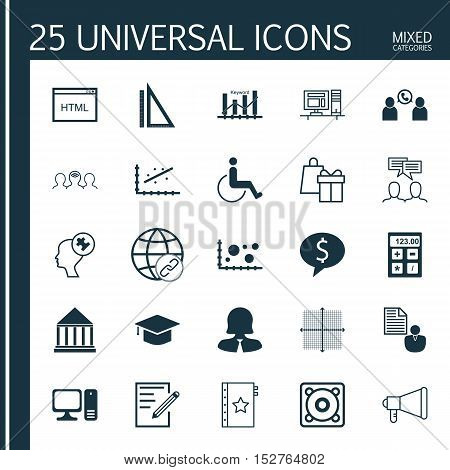 Set Of 25 Universal Editable Icons For Project Management, Management And Business Management Topics