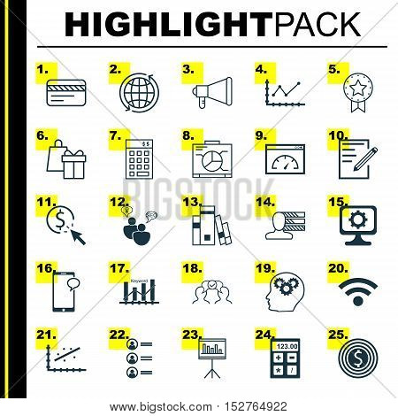 Set Of 25 Universal Editable Icons For Project Management, Education And Marketing Topics. Includes