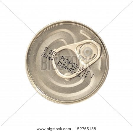 Tin can conserved isolated on white background