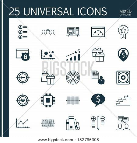 Set Of 25 Universal Editable Icons For Project Management, School And Human Resources Topics. Includ