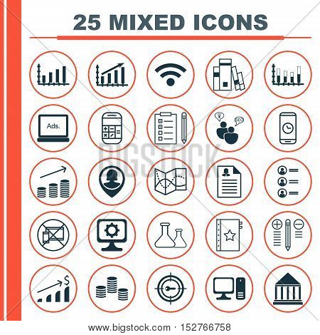 Set Of 25 Universal Editable Icons For School, Education And Human Resources Topics. Includes Icons