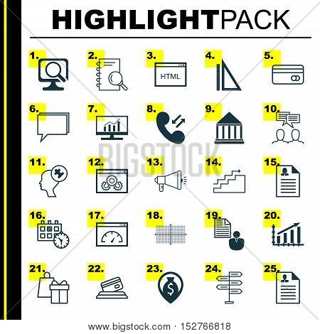 Set Of 25 Universal Editable Icons For Marketing, Advertising And Hr Topics. Includes Icons Such As