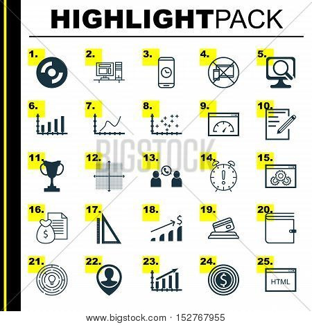 Set Of 25 Universal Editable Icons For Advertising, School And Traveling Topics. Includes Icons Such