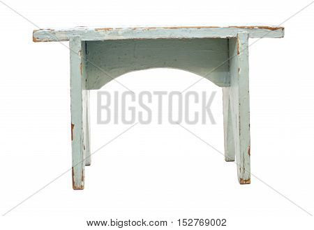 Wooden chair isolated on a white background